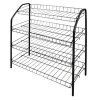 New Simple Multi Layer Shoe Rack Stainless Steel Easy Assemble Storage Shoe Cabinet Shoe Rack Hanger Home Organizer Accessories