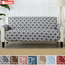 1/2/3 Sectional Pet Sofa Cover Waterproof Sofa Protector for Furniture Living Room Print Reversible Couch Slipcover slowdream nordic deer sofa cover assemble sofa for living room removable stretch elastic band home seat decorative slipcover