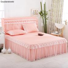 Komplet pościeli w stylu księżniczki 1 szt Narzuta na łóżko i 2 szt Poszewki na poduszki z koronkową krawędzią niebieski różowy fioletowy szary zielony kolor dostępny tanie tanio Brak Zestawy narzuta Kocyk Poliester Bawełna 1 0 m (3 3 stóp) 1 2 m (4 stóp) 1 35 m (4 5 stóp) 1 5 m (5 stóp) 1 8 m (6 stóp)