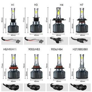 Image 5 - 2 Cái Đèn Pha Ô Tô Bóng Đèn LED H1 H3 H27 H7 H11 HB3 HB5 880 9005/HB3 9006/HB4 h4 LED HB1 12V 72W 6000K 12000LM Đèn Ánh Sáng Tự Động