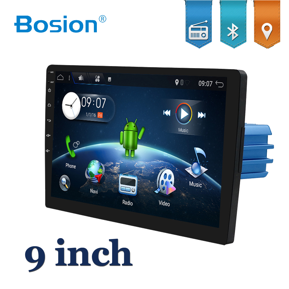 Bosion 9 inch <font><b>1DIN</b></font> <font><b>car</b></font> <font><b>multimedia</b></font> <font><b>player</b></font> for universal Android 10 <font><b>Car</b></font> Audio Stereo Radio GPS BT Head unit with wifi usb sd SWC image