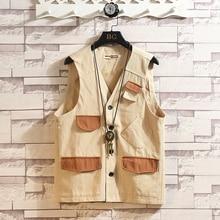 2019 AUTUMN Spring Clothes Sleeveless Jacket Vest Mens Warm Thin Waistcoat Plus Size XL-5XL