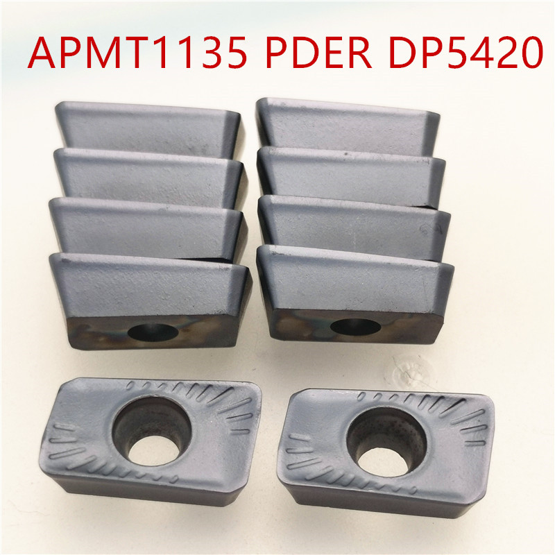 100PCS APMT1135 PDER DP5420 APMT1135 DP5320 Carbide insert turning tool lathe cutter milling cutter CNC cutting tool
