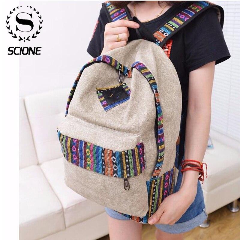 Женский рюкзак для ноутбука, женский холщовый рюкзак, школьный рюкзак для девушек и подростков, повседневные дорожные сумки, Mochila, рюкзак дл...