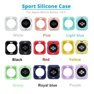 Colorflul Sport Silicone Case For Apple Watch 4 44mm 40mm Watch Case For IWatch Series 4 Case Full Protection