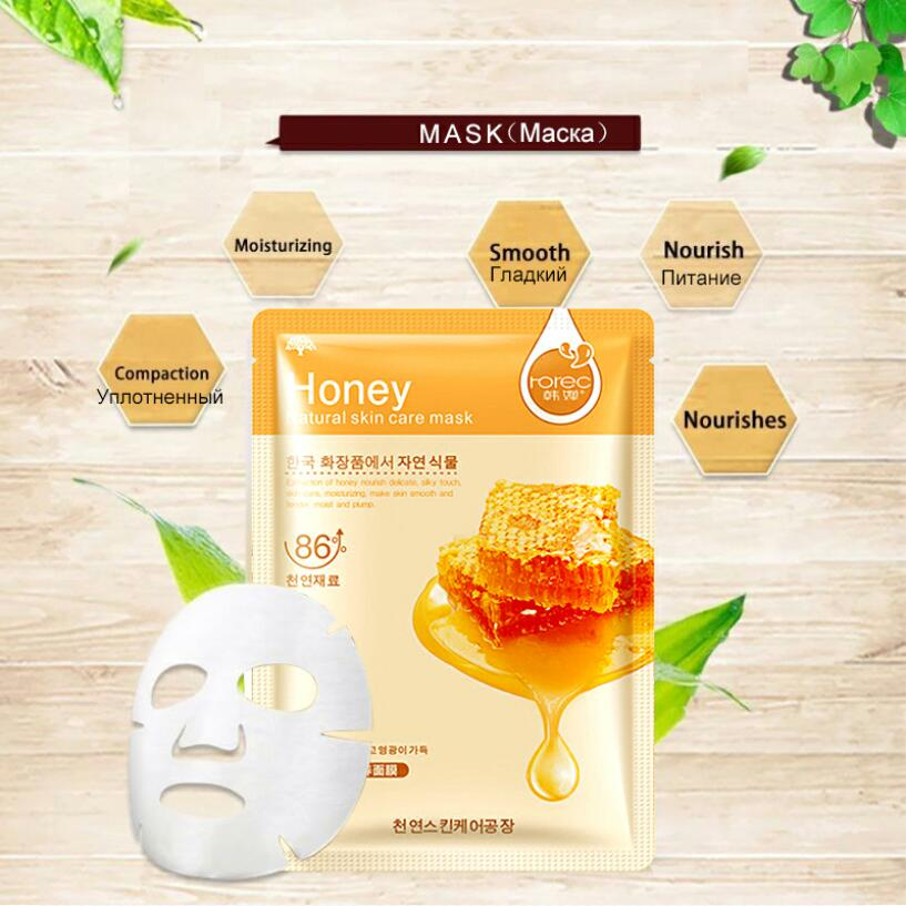20pcs Hot Selling Sheet Mask Snail Seaweed Essence Dope Korea Skin Care Face Mask Combo Plant Extract Aloe Vera Olives Honey 2