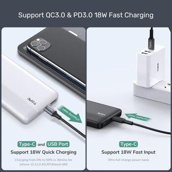TOPK I1015P Quick Charge 3,0 10000 мАч внешний аккумулятор