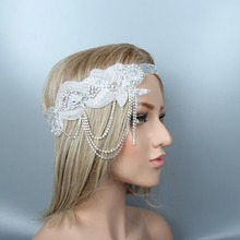 charleston  1920s Headband Flapper Great Gatsby party decorations wedding hair accessories bride
