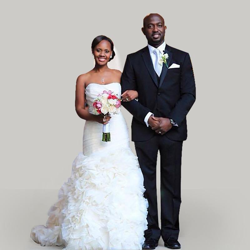 Custom-made 2016 White Strapless Beaded Wedding Belt Organza Wedding Dress Sexy Weddng Dresses Bridal