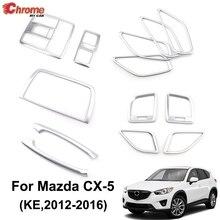 Для Mazda CX-5 CX5 KE 2012 2013 хромированная внутренняя дверная ручка подлокотник вентиляционное отверстие накладка украшение автомобиля Стайлинг