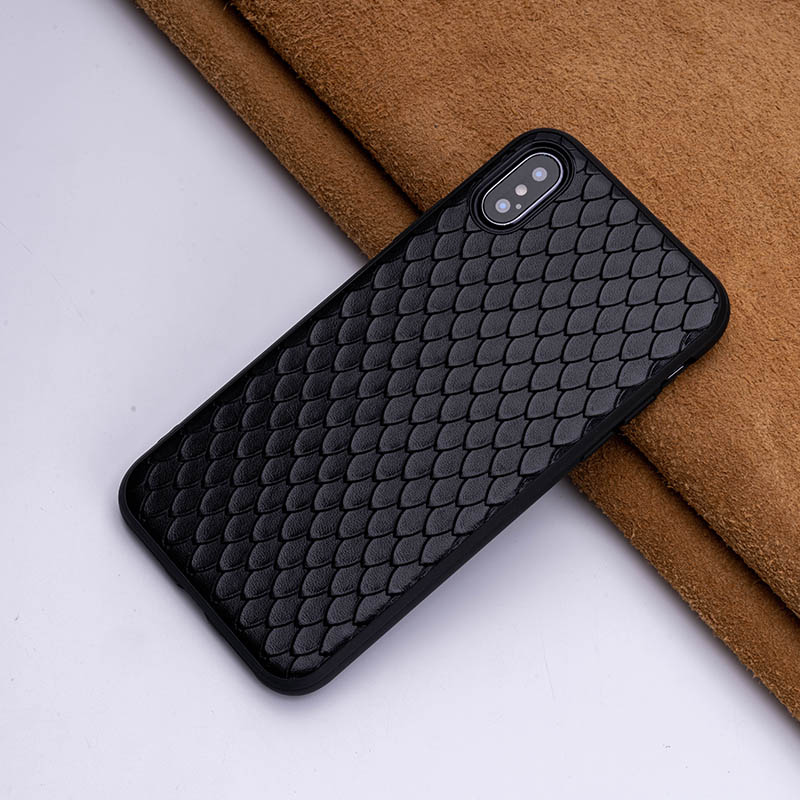 2019 New Type Cowhide Fish Scales Phone Case For IPhone X XS Max XR For Apple 5 5S SE 6 6S 7 8 Plus Protect Phone Case Fitted