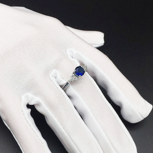 Image 5 - Huiseptエレガントなシルバー 925 リングラウンド形状サファイアジルコン宝石ジュエリーの女性リング結婚婚約パーティーギフト卸売