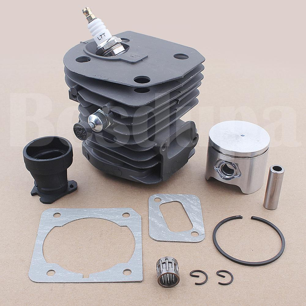 Tools : 44mm Cylinder Piston Intake Boot Gasket Kit For Husqvarna 353 351 350 346 XP 340 Chainsaw 503869971 503866301 w Needle Bearing