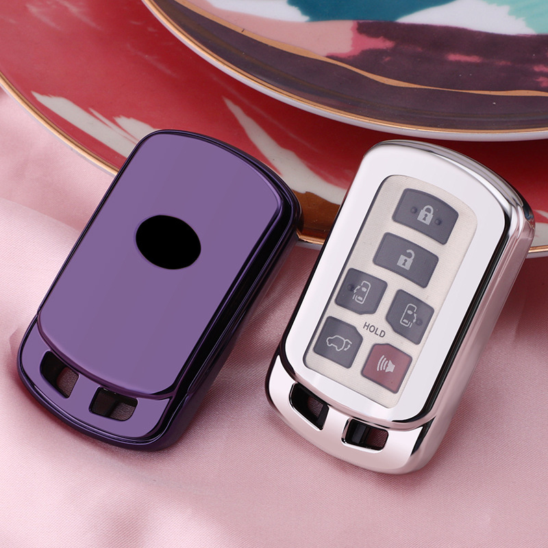 TPU Car Key Holder Cover Case Shell For Toyota Sienna 2018 2019 2020 Key Bag Protector Accessories Key Covers