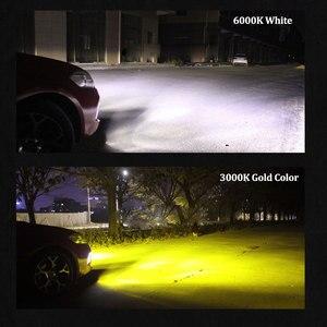 Image 4 - AUXITO 2X H11 żarówki LED światła przeciwmgielne H8 H9 H16 JP LED CSP 6000k biały/3000k złoty żółty 12V 24V DRL samochód do jazdy dziennej lampa samochodowa
