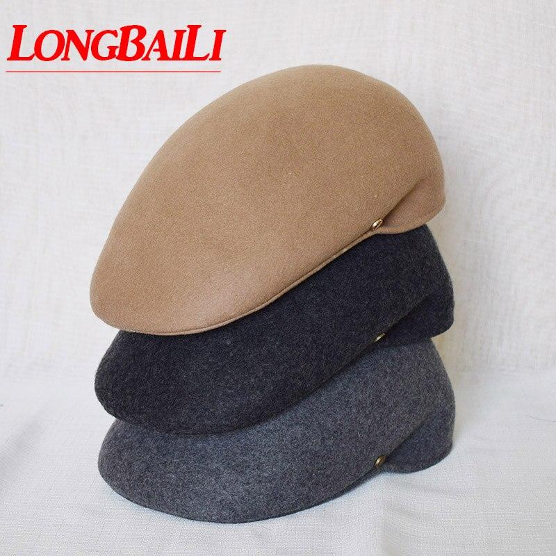 Winter Wool Gorras Planas Hats For Men Felt French