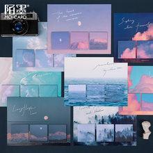 60 feuilles esthète aquarelle montagnes et lacs série Notes autocollantes mignon poster It Kawaii fournitures scolaires corée papeterie