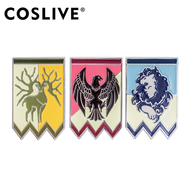 Coslive Design Game Protagonist Badges Three Badges Cosplay Accessory Cosplay Props Halloween Chrismas Gift Only Ship From Japan