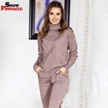 Conjunto de Jersey y pantalón de chándal para mujer, conjunto de 2 uds. De chándal informal para Otoño e Invierno