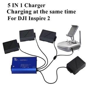 Image 1 - Cargador para Dron 5 en 1 inteligente Inspire 2, para control remoto de batería, Carga rápida inteligente piezas de repuesto del concentrador, carga a la vez