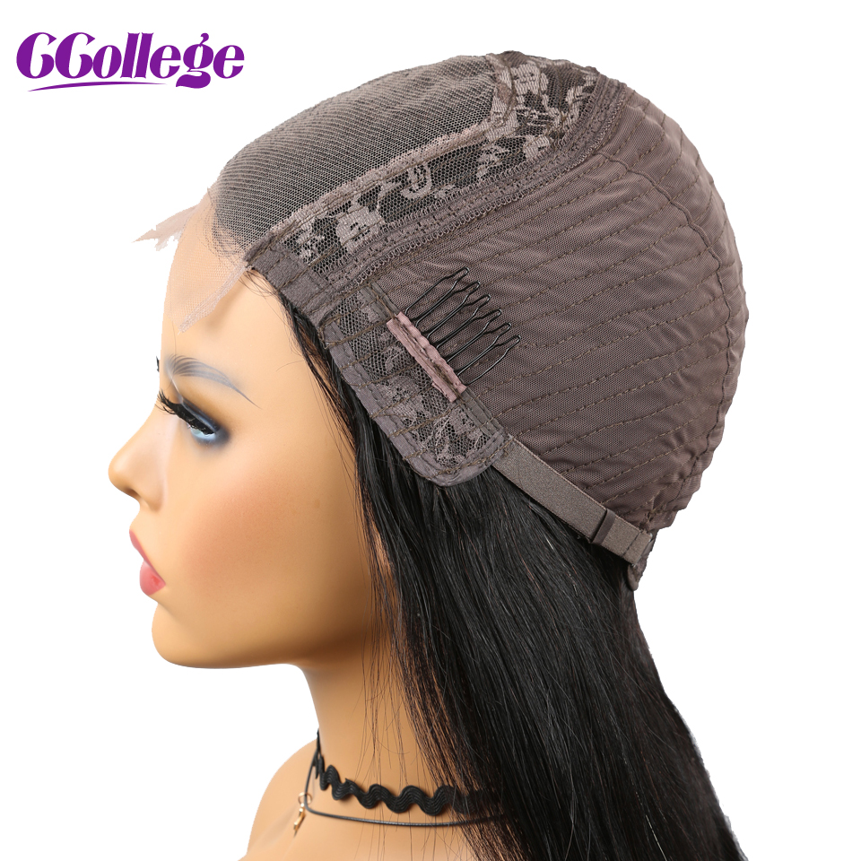 4x4 Lace Closure Wigs Blunt Cut Bob Wig Brazilian Straight Hair Preplucked Lace Wig For Black Woman Non Remy Human Hair Wigs
