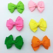 цена на 20pcs/lot New Design kids Small Lovely Bow Tie Hair Clip Bow-knot Grosgrain Ribbon Bow Hairpins Hairgrips Hair Accessories