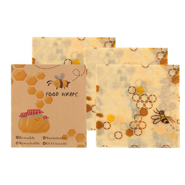 Reusable Bee Wax Cloth Food Fresh-Keeping Wrap