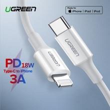 Ugreen – Câble USB Type-C vers Lightning, PD 18 W, pour recharge rapide, pour iPhone 12 Mini/Pro/Max/11/8, Macbook Pro et iPad,