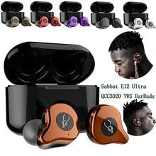 Sabbat E12 Ultra QCC3020 TWS Bluetooth 5,0 наушники спортивные Hi-Fi стерео беспроводные наушники гарнитура с шумоподавлением Беспроводное зарядное устройство