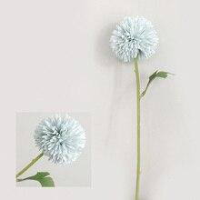 1х искусственный цветок шар Хризантема имитация шелковые цветы для дома вечерние Декор