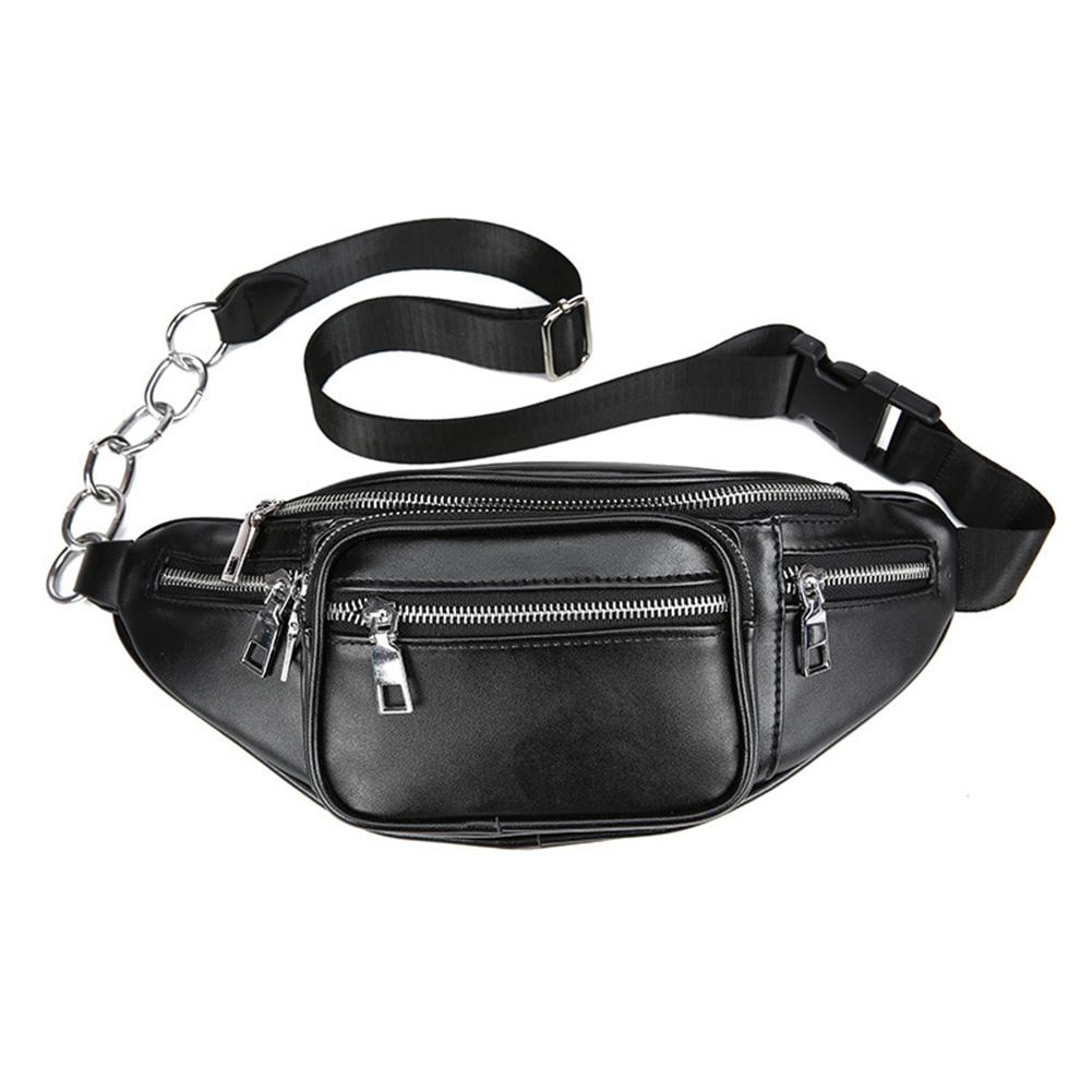 Pu Leather Zip Pouch Women Waist Bag Fashion Belt Chest Bag Travel Money Phone Bags For Ladies Female Luxury Funny Pack