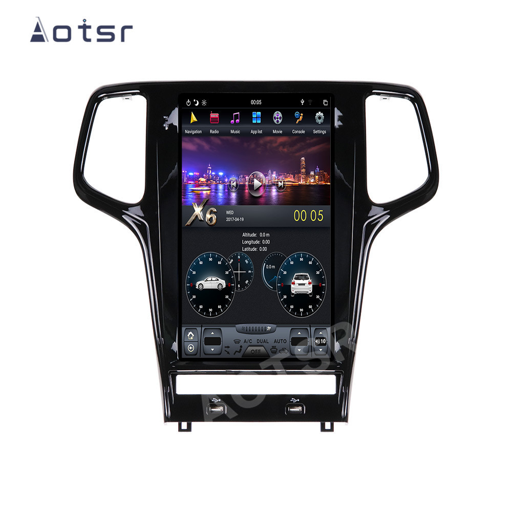 AOTSR Tesla Android 9 Car Radio For Jeep Grand Cherokee WK2 2009 - 2019 Multimedia Player GPS Navigation DSP CarPlay PX6 Unit