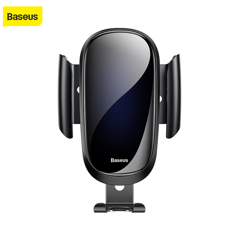 Baseus Luxury Glass Car Phone Holder For IPhone X XS Max XR Samsung S9 S8 Gravity Metal Gravity Air Vent Mount GPS In Car Holder