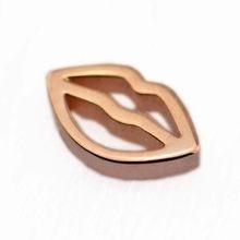 Collier pendentif en argent Sterling 925 Rose, médaillon flottant, petites breloques Love Kiss, cadeau bijoux à bricoler soi-même