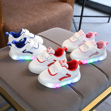 Mesh fashion high quality children casual shoes European 5 stars LED lighted kids sneakers classic cute baby girls boys