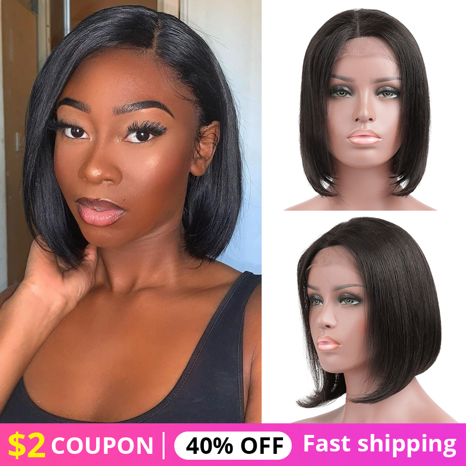 Human Hair Wigs 150% Density Straight Lace Front Bob Wigs Straight Bob Human Hair Wigs Short Lace Front Bob Wigs for Black Women