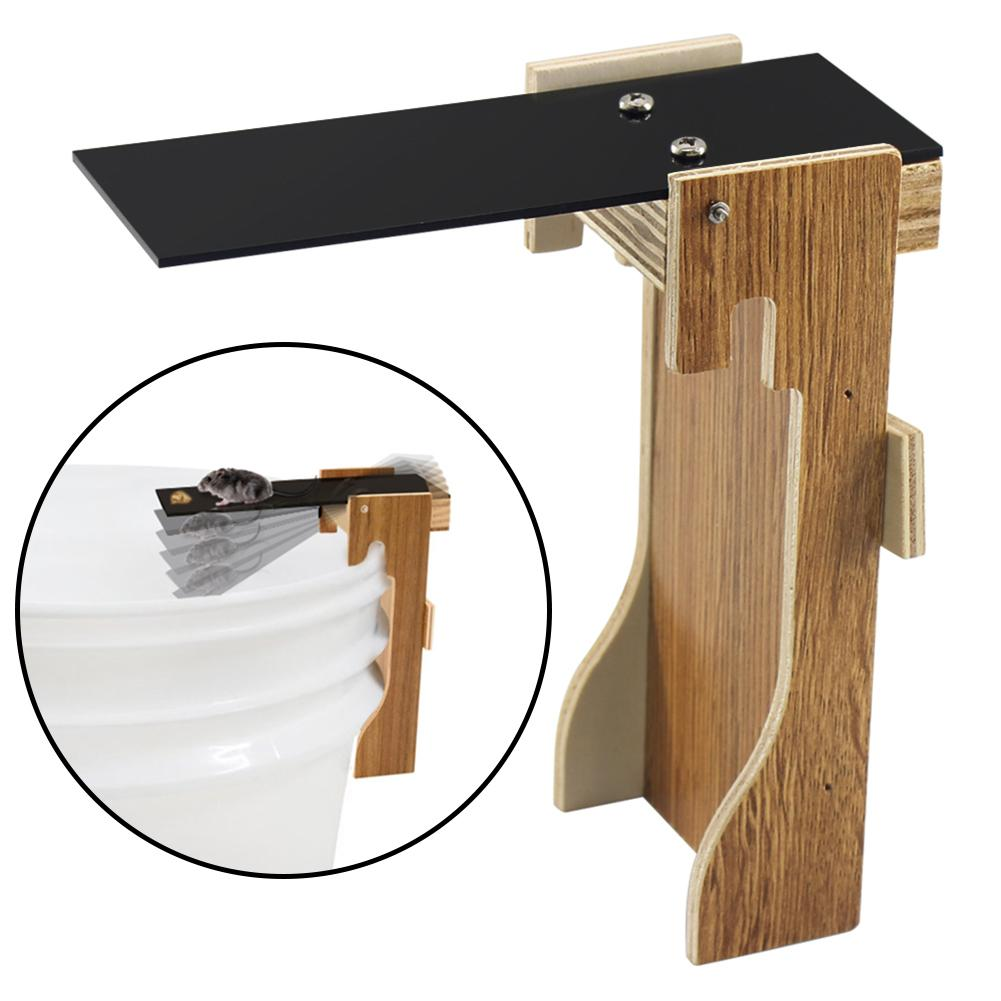 Home Wood Rat Walk Plank Seesaw Traps Automatic Reset Mouse Killer Mousetrap