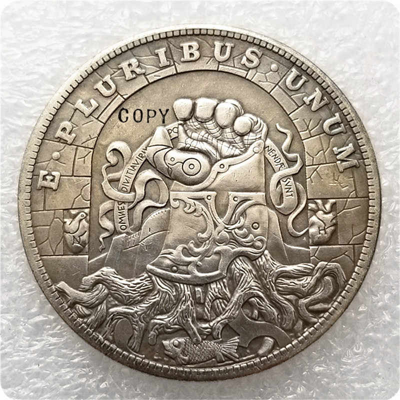 Type #1 Hobo Nikkel Morgan Dollar Kopie Munt