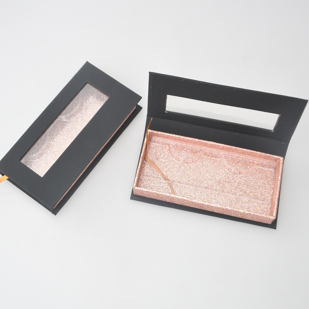 Wholesale Eyelashes Package Eyelash Packaging Box Lash Boxes Packaging Custom Logo Faux Cils Mink Lashes Black Case Bulk Vendors