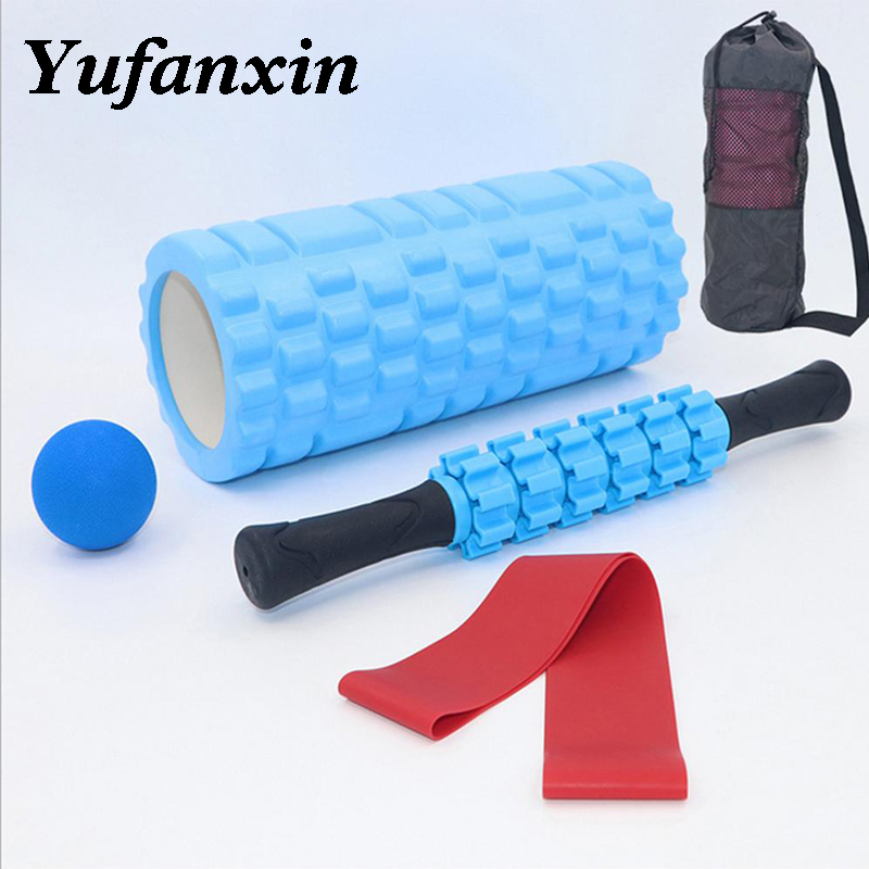 Foam Roller Muscle Roller Fitness Balls Set Workout Relax Yoga Block For Yoga Massage And Fitness Physical Therapy