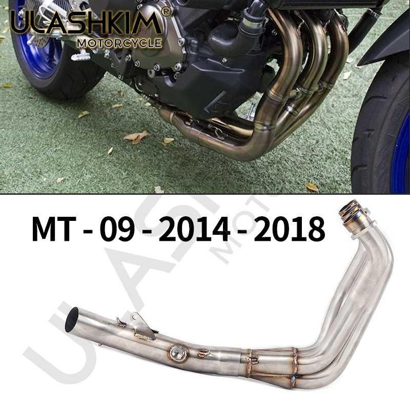 Глушитель выхлопной трубы для мотоцикла с полной системой Escape, глушитель выхлопной трубы без шнуровки для yamaha FZ09 MT09 MT-09 FZ-09 2014-2018