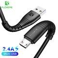 FLOVEME Micro USB кабель 5 В 2.4A зарядки данных Зарядное устройство кабель для samsung Xiaomi huawei телефона Android Зарядное устройство Кабель Micro USB шнур зарядн...