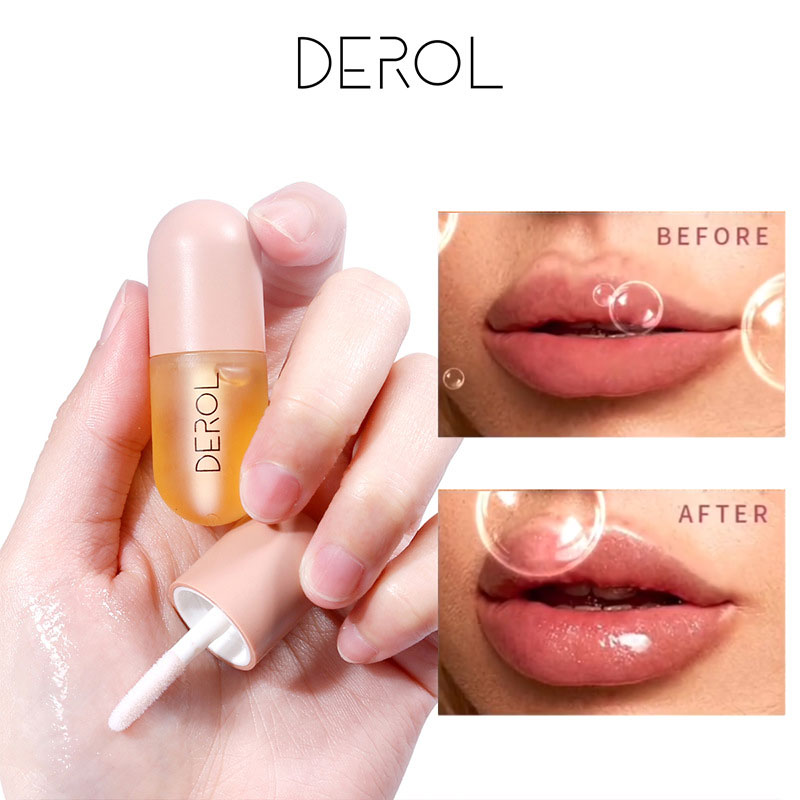 DEROL Moisturizing Plumping Lip Gloss Lip Plumper Mineral Oil Lip Extreme Volume Essence Nutritious Lips Enhancer Serum