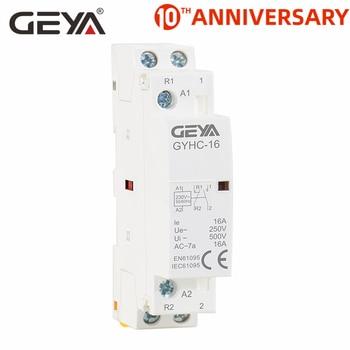 цена на GEYA GYHC Modular Contactor 2P 16A 20A 25A 2NO or 2NC or 1NO1NC220V Automatic Household Contactor Din Rail Type