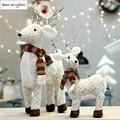 Санта Клаус снеговик лося куклы Рождественские украшения игрушка с утолщённой меховой опушкой, хороший рождественский подарок на Новый го...