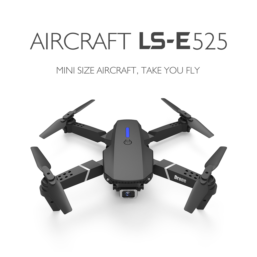 LS-E525 Foldable RC Quadcopter Drone 4K 1080P Ultra HD Dual Camera WIFI FPV Professional Helicopter 4 CH 6 Gyro With LED Light
