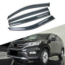 Для HONDA CRV 4-го поколения 2012- окна автомобиля солнце дождь тени козырьки щиток Shelter Защитная крышка отделка рамка наклейка