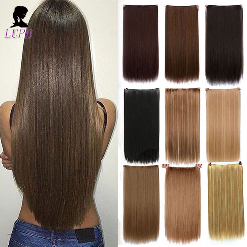 LUPU Synthetic Hair Extention With 5 Clips 24
