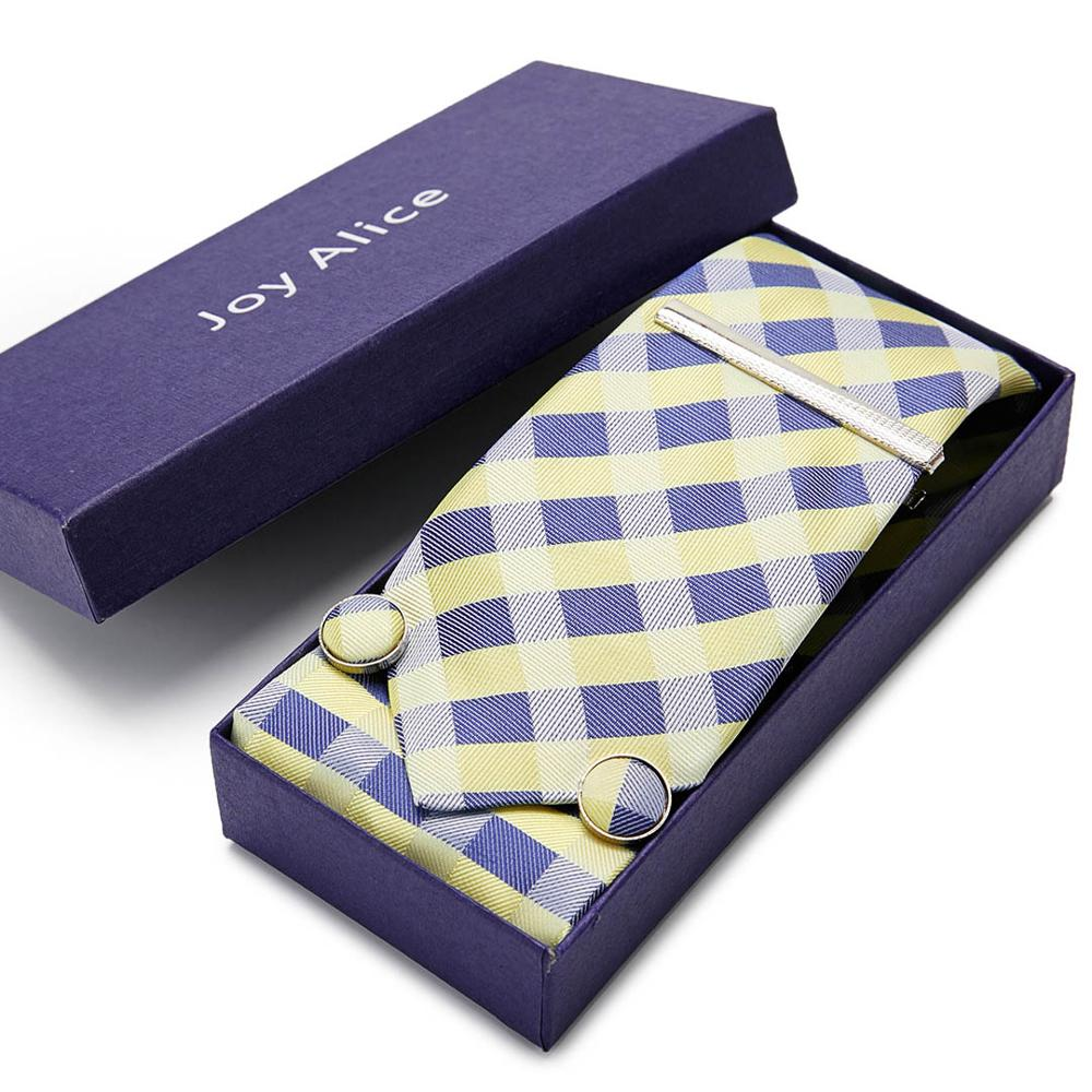 21 Styles Men's Ties Yellow Lattice Flower Floral 7.5 Cm 100% Silk Necktie Accessories Daily Wear Wedding Party Gift Box 12568