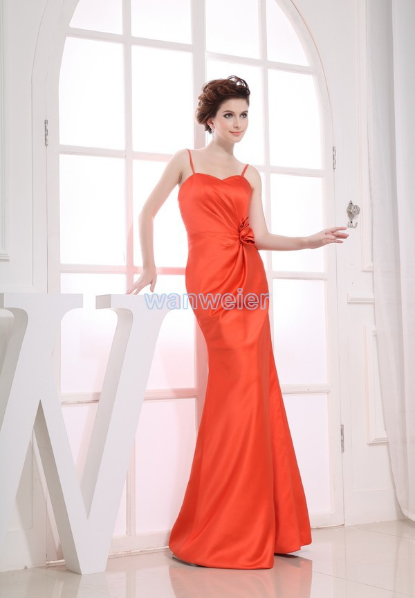 Free Shipping 2016 Vestidos Formales New Brides Maid Dress Gown Custom Size/color Red Maxi Dresses Long  Bridesmaid Dresses